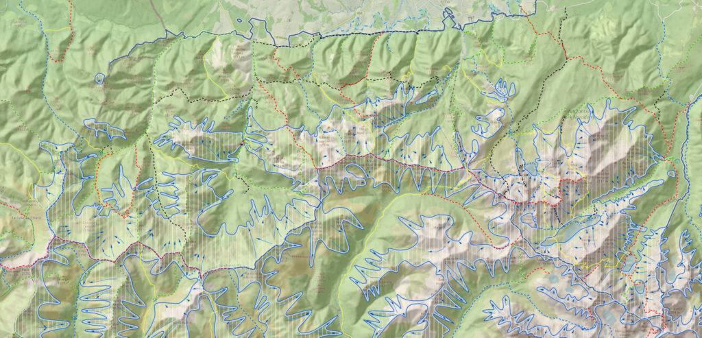 Tatry, mapa lawinowa
