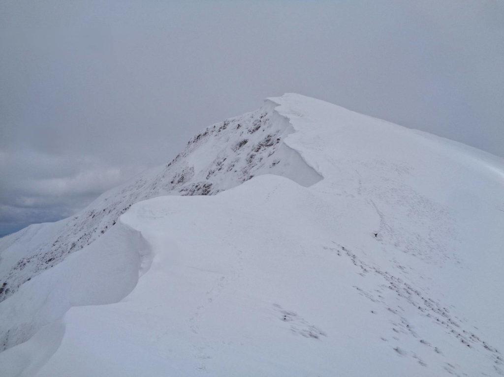 Grań Tatr Zachodnich zimą