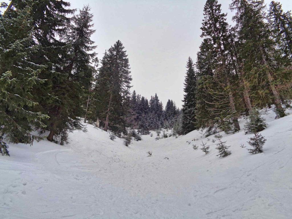 Trzydniowiański Wierch wejście zimą