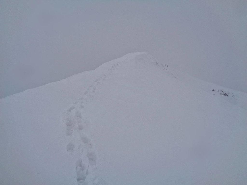 Wołowiec, szlak zimą