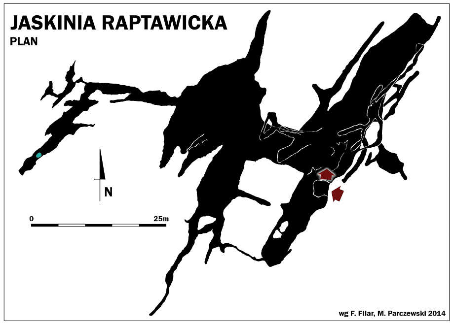 Jaskinia Raptawicka, mapa
