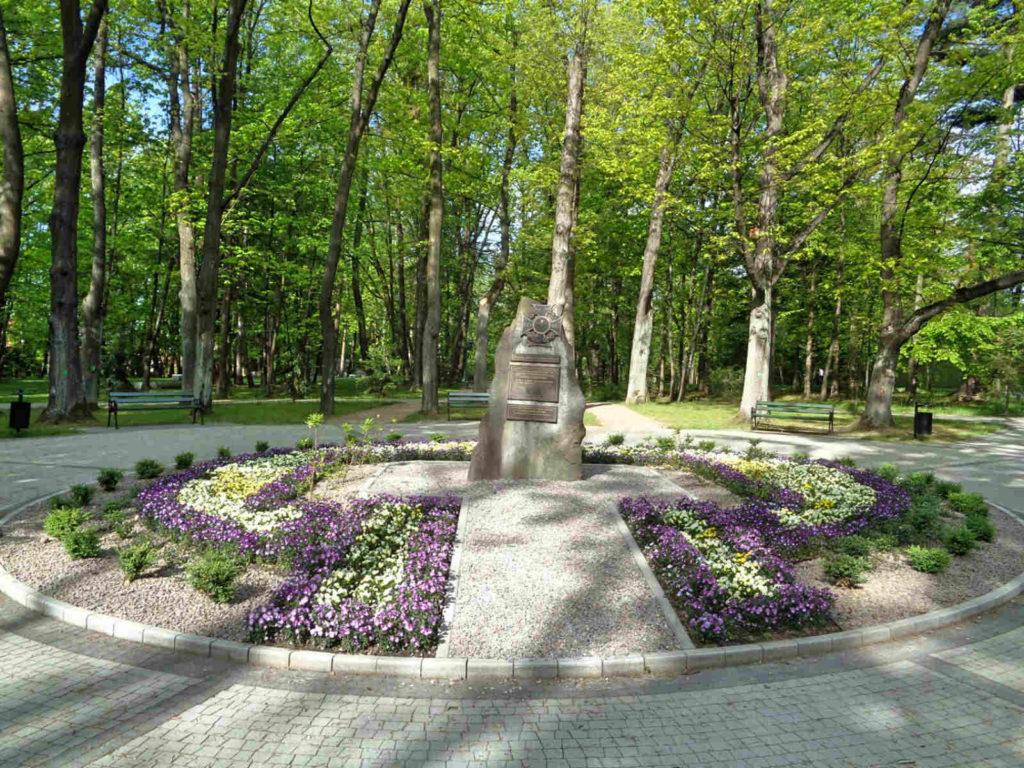 Wadowice, park, pomnik ZHP