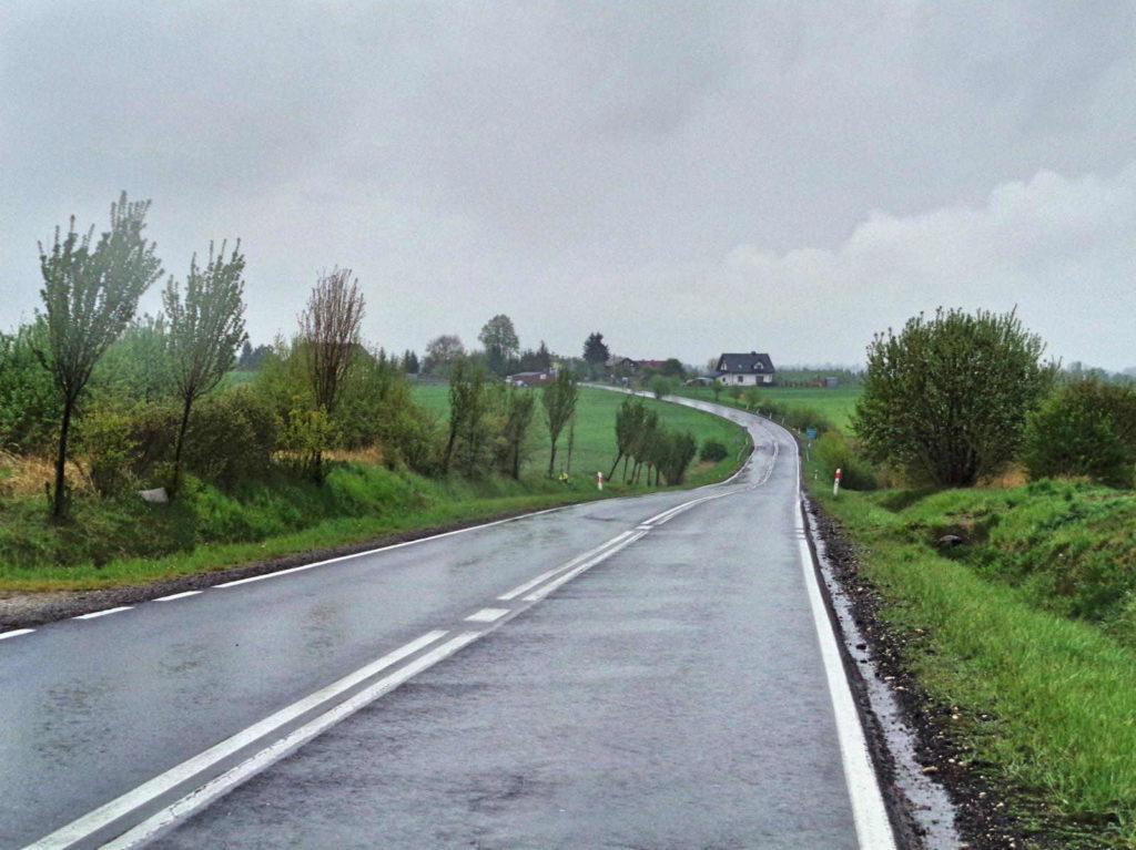 Rowerem w deszczu