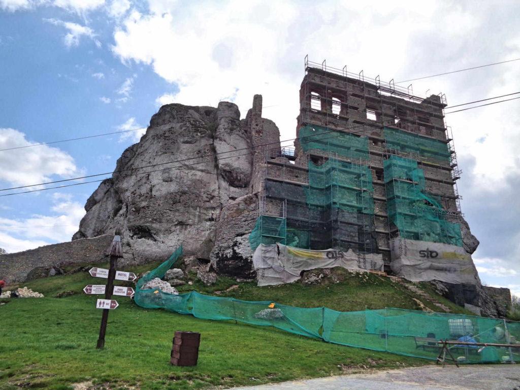 Zamek Ogrodzieniec, remont