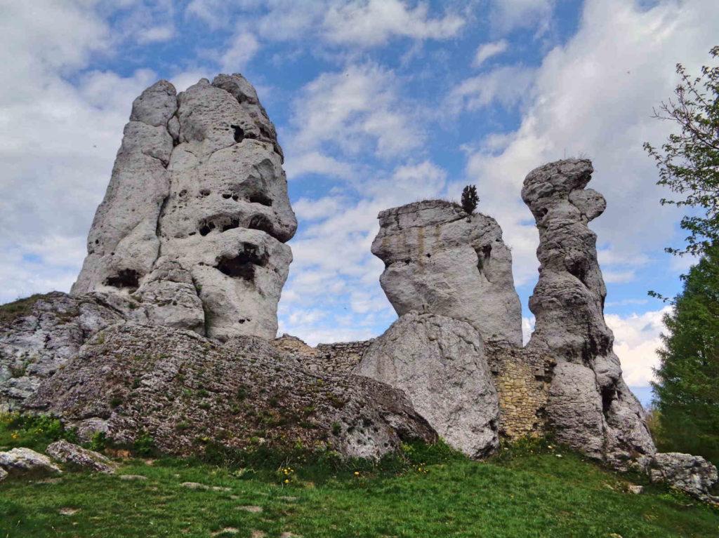 Zamek Ogrodzieniec, skałki