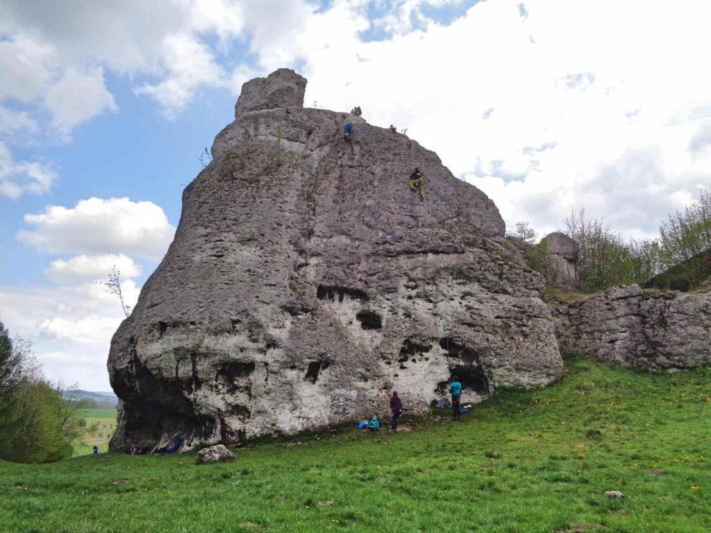 Zamek Ogrodzieniec, wspinaczka