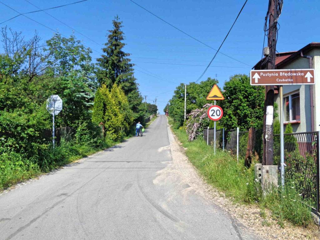 Podejście na wzgórze Czubatka