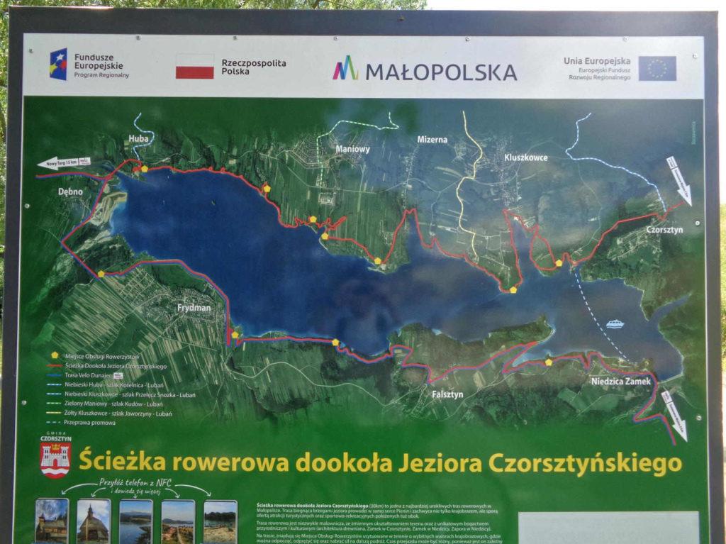 Ścieżka rowerowa dookoła Jeziora Czorsztyńskiego
