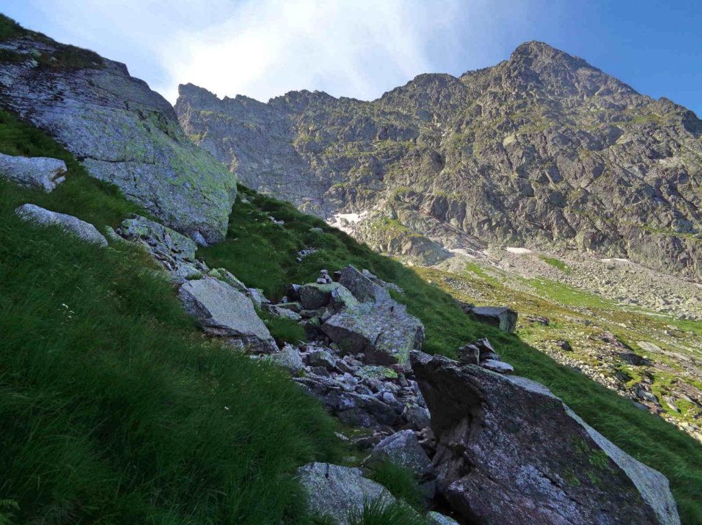Mylna Przełęcz, droga od Przełęczy Karb