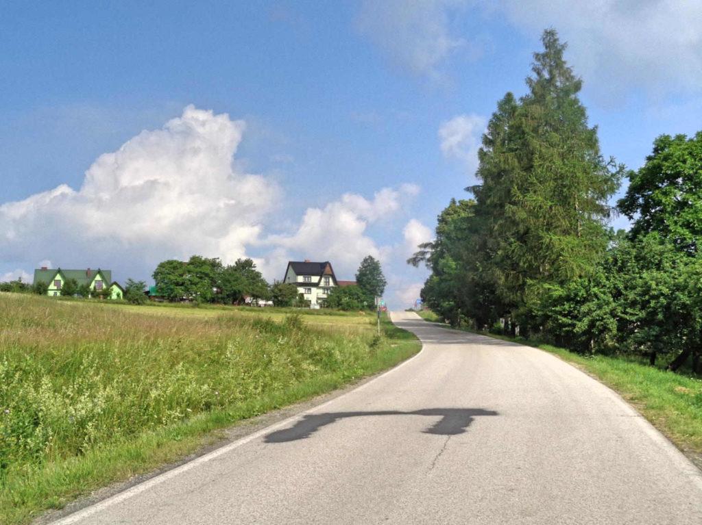Podjazd na Przełęcz Glisne