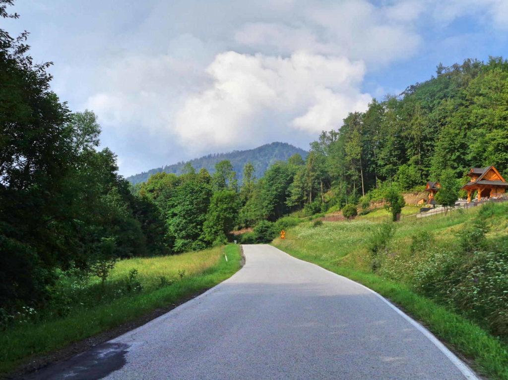 Przełęcz Glisne na rowerze