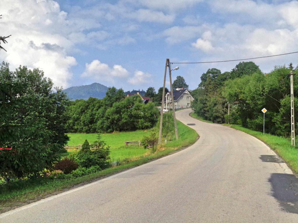 Przełęcz Glisne, podjazd od Mszany