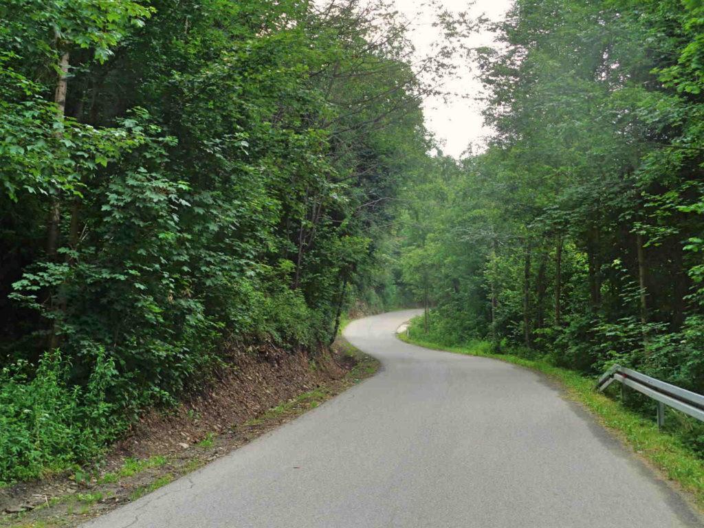 Przełęcz Glisne, podjazd od Zakopianki