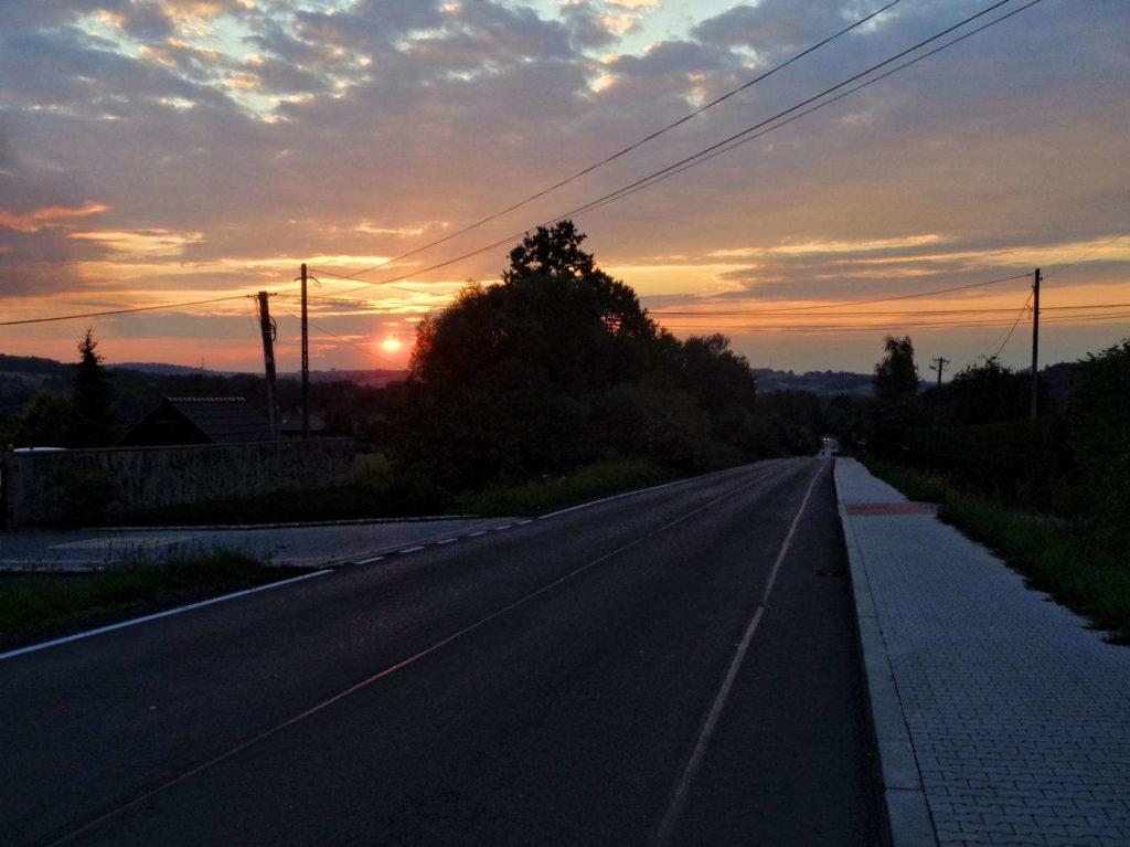 Krzywaczka, zachód słońca
