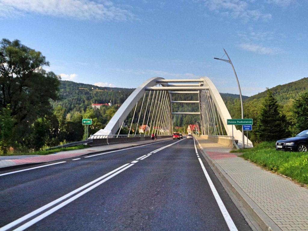 Maków Podhalański, most na Skawie