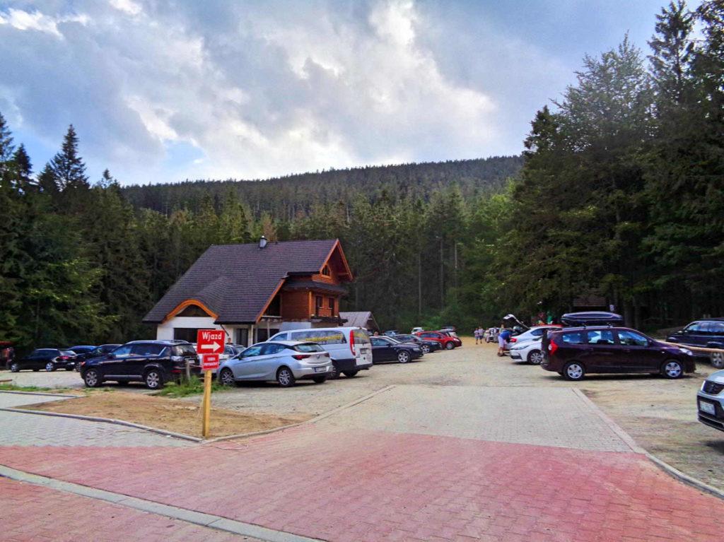Przełęcz Krowiarki, parking