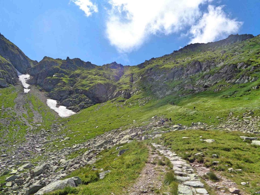 Czarny szlak na Świnicką Przełęcz