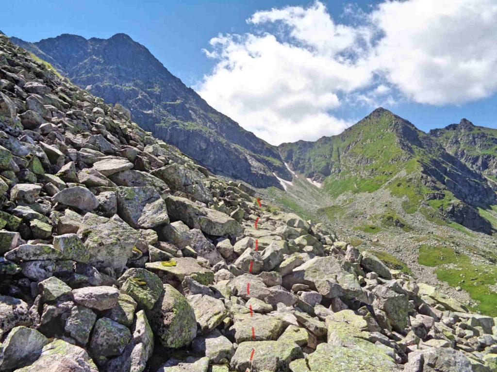 Dawny szlak z Karbu na Świnicką Przełęcz