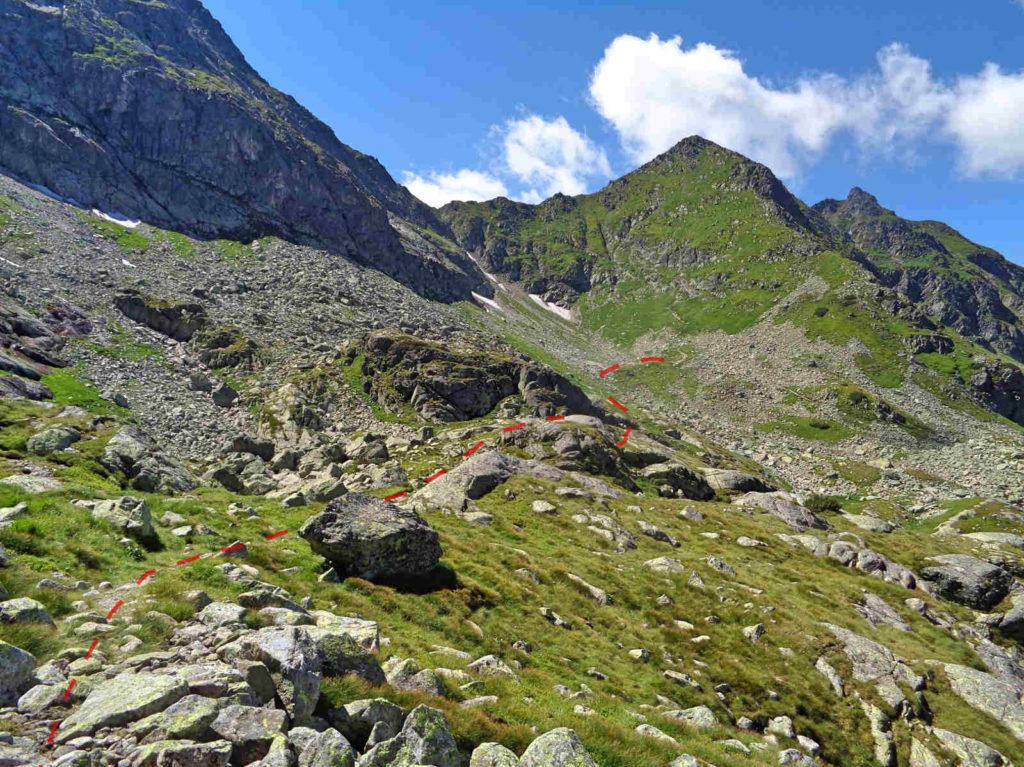 Karb - Świnicka Przełęcz, stary szlak