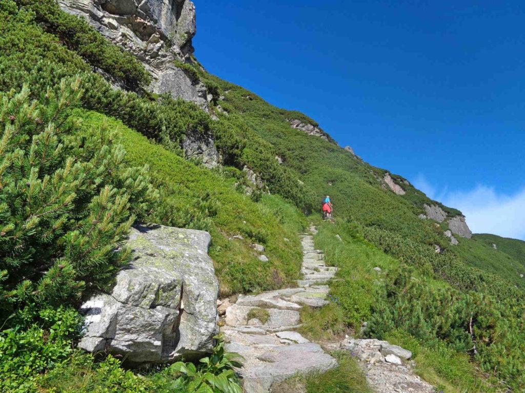 Przełęcz Karb, podejście