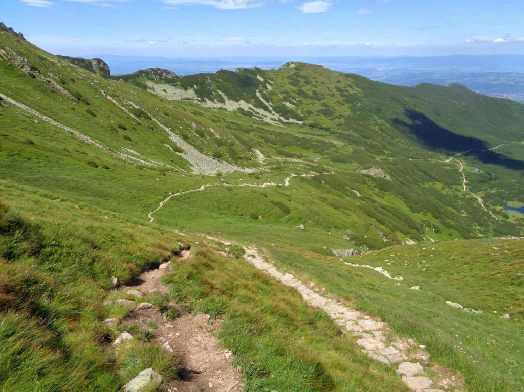 Przełęcz Liliowe, zejście
