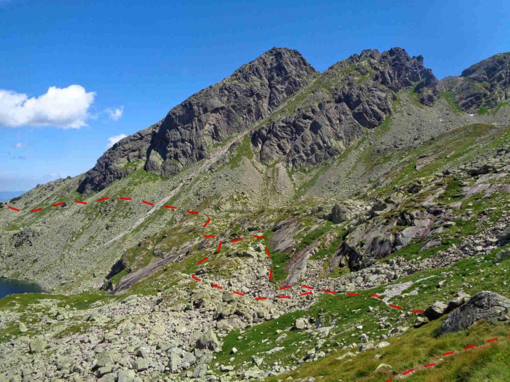 Stary szlak Karb - Świnicka Przełęcz