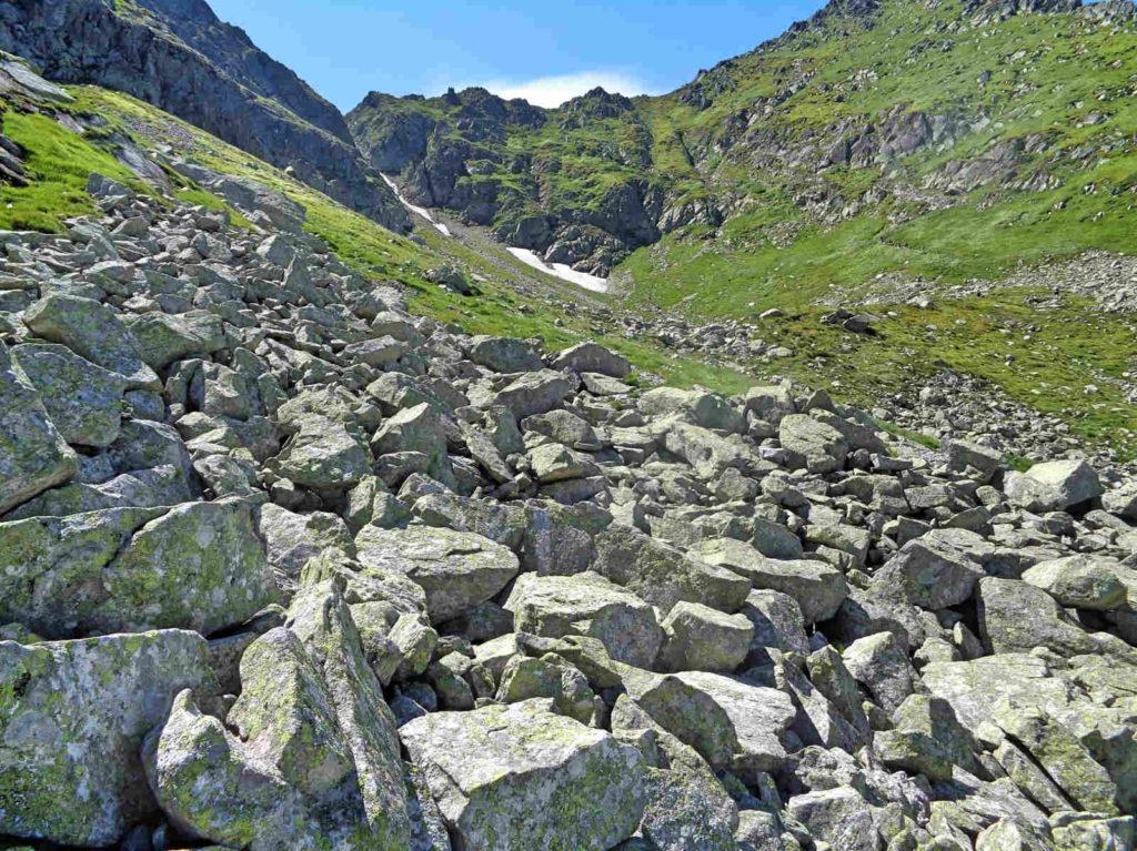 Stary szlak na Świnicką Przełęcz