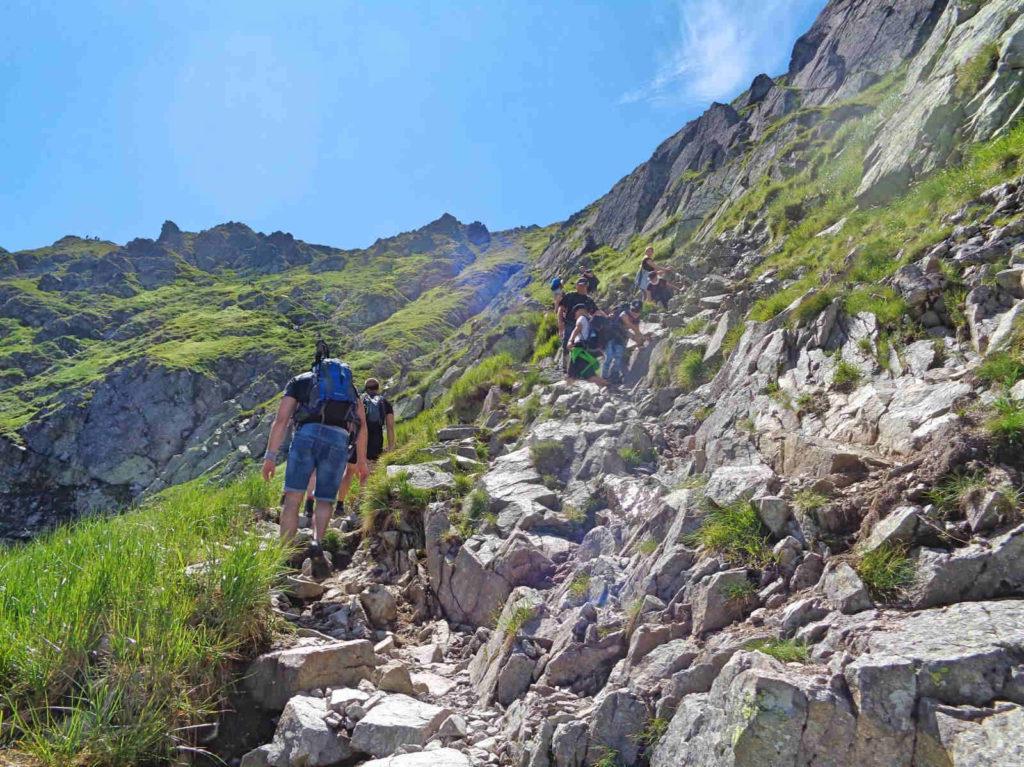 Świnicka Przełęcz, czarny szlak
