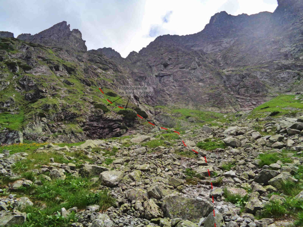 Białczańska Przełęcz Wyżnia, podejście pod grzędę