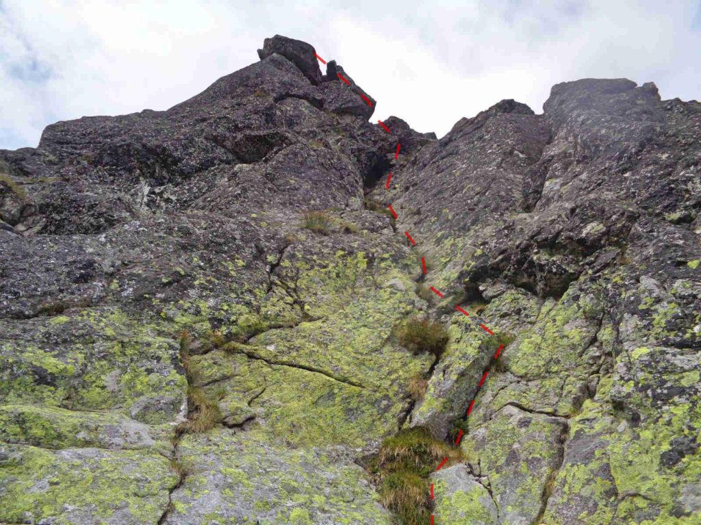 Żabi Mnich, wejście na szczyt