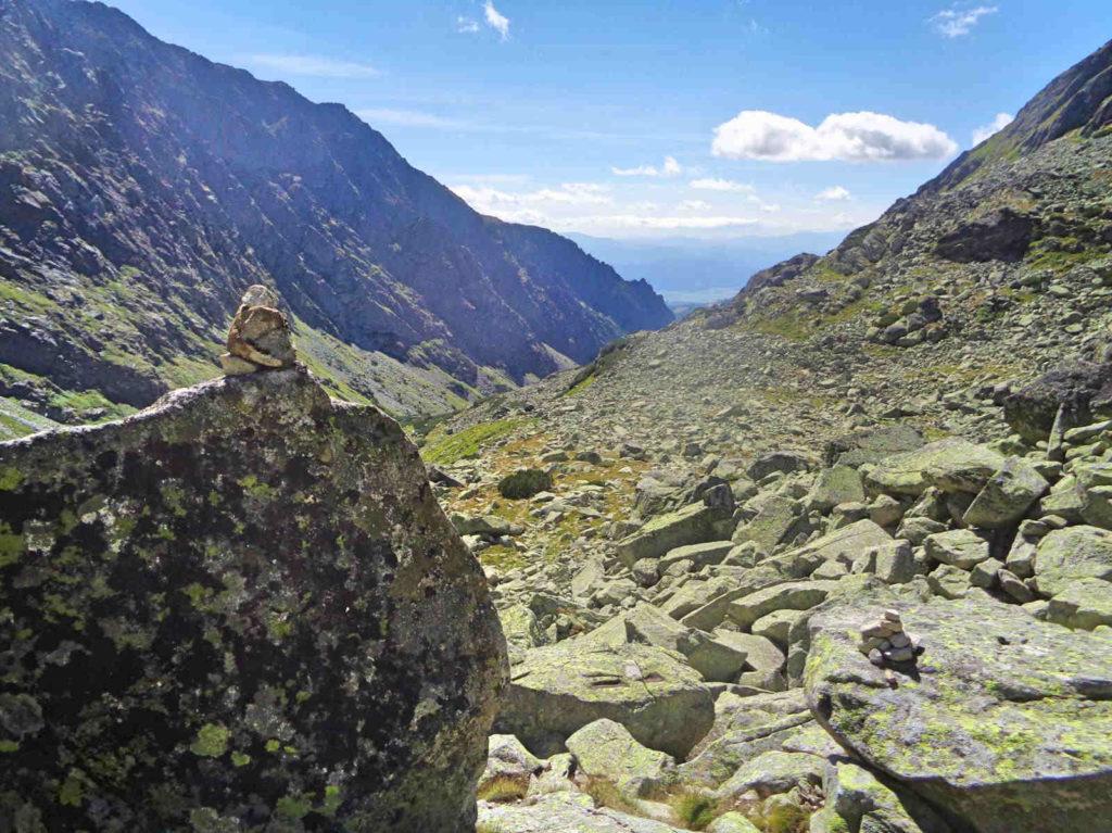 Dolina Złomisk, zejście