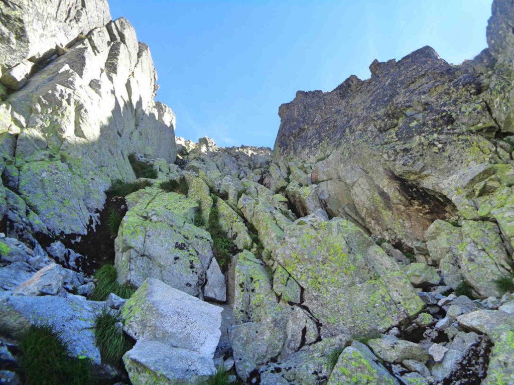 Droga na Gankową Przełęcz