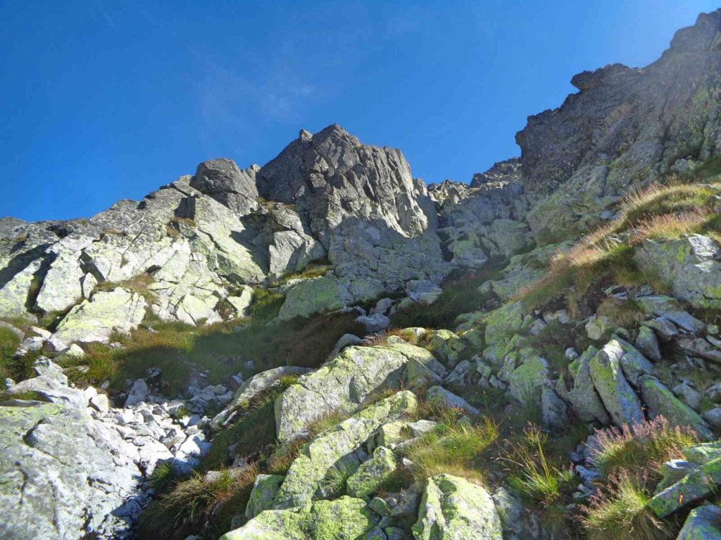 Wejście ponad Rumanową Dolinkę
