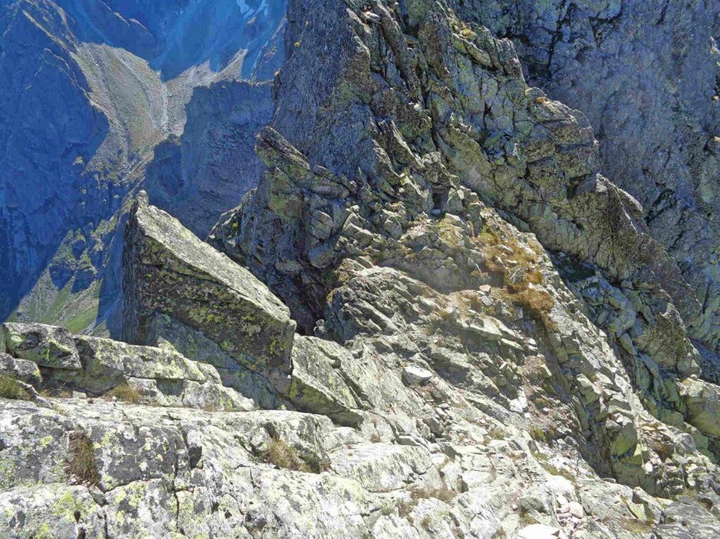 Zejście na Gankową Przełęcz
