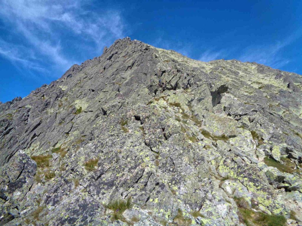 Kieżmarski Szczyt od Huncowskiej Przełęczy