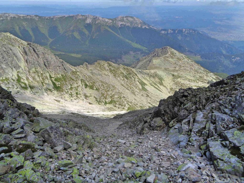 Zejście z Huncowskiej Przełęczy