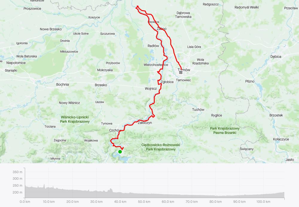 Velo Dunajec, mapa (dzień 2)