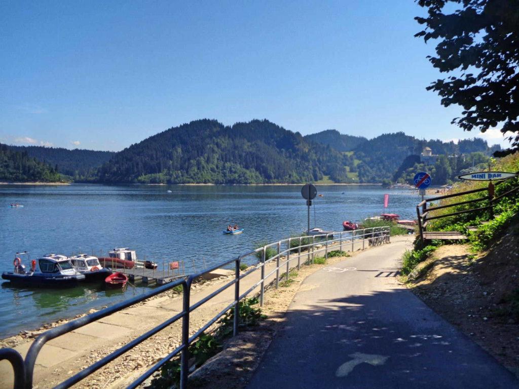 Velo Dunajec, Jezioro Czorsztyńskie