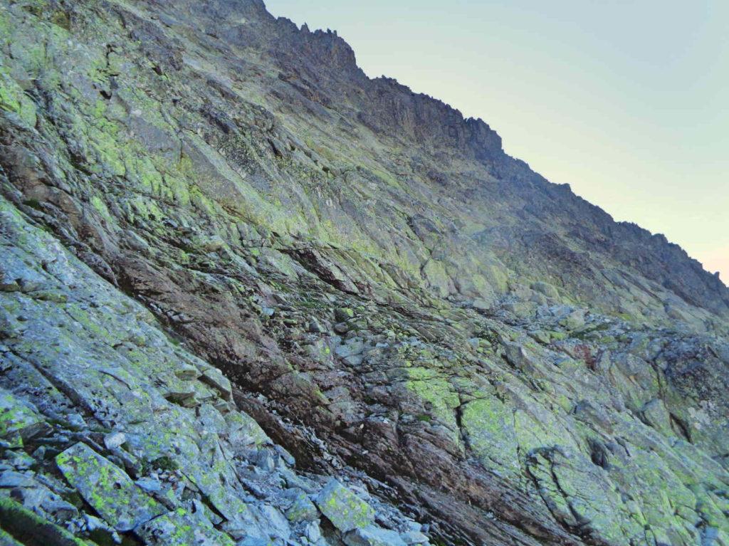 Wysoka, droga od Przełęczy Waga