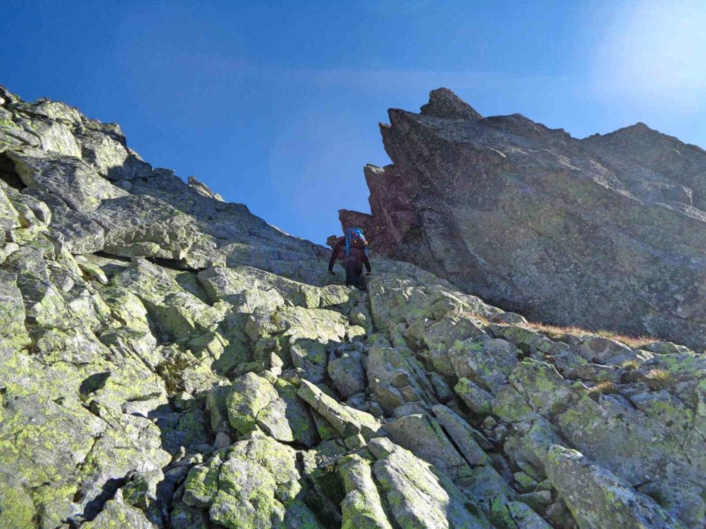 Wysoka, wejście na szczyt
