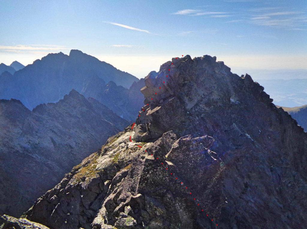 Wysoka, wejście na wierzchołek południowo-wschodni
