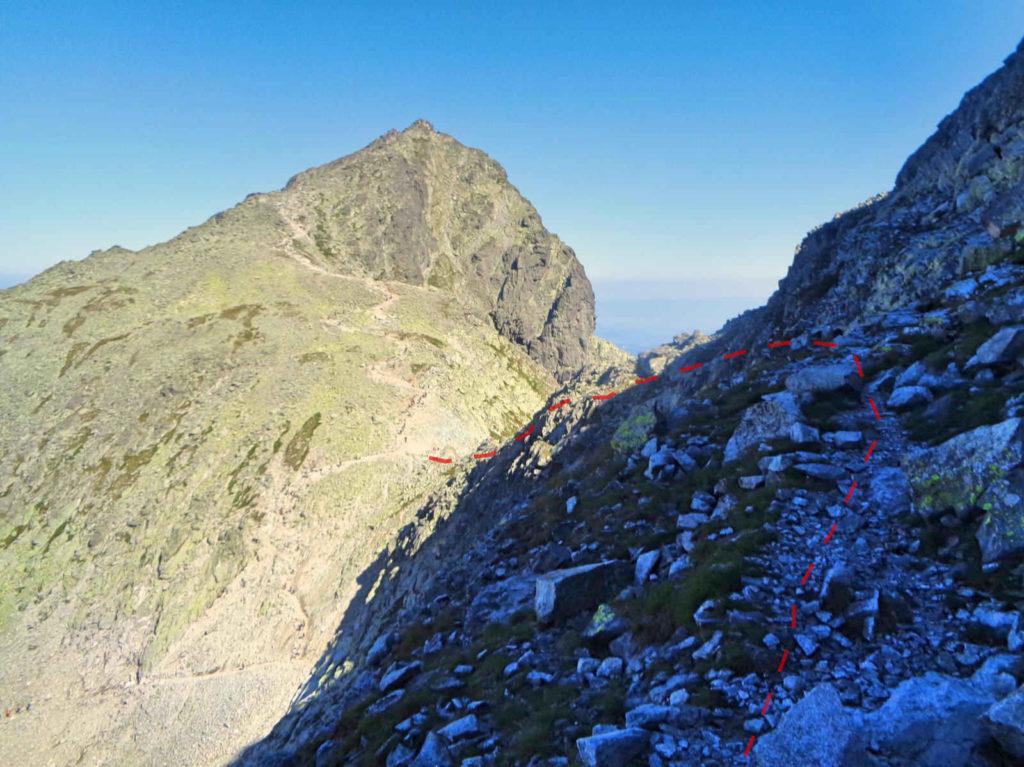 Wysoka, zejście na Przełęcz Waga