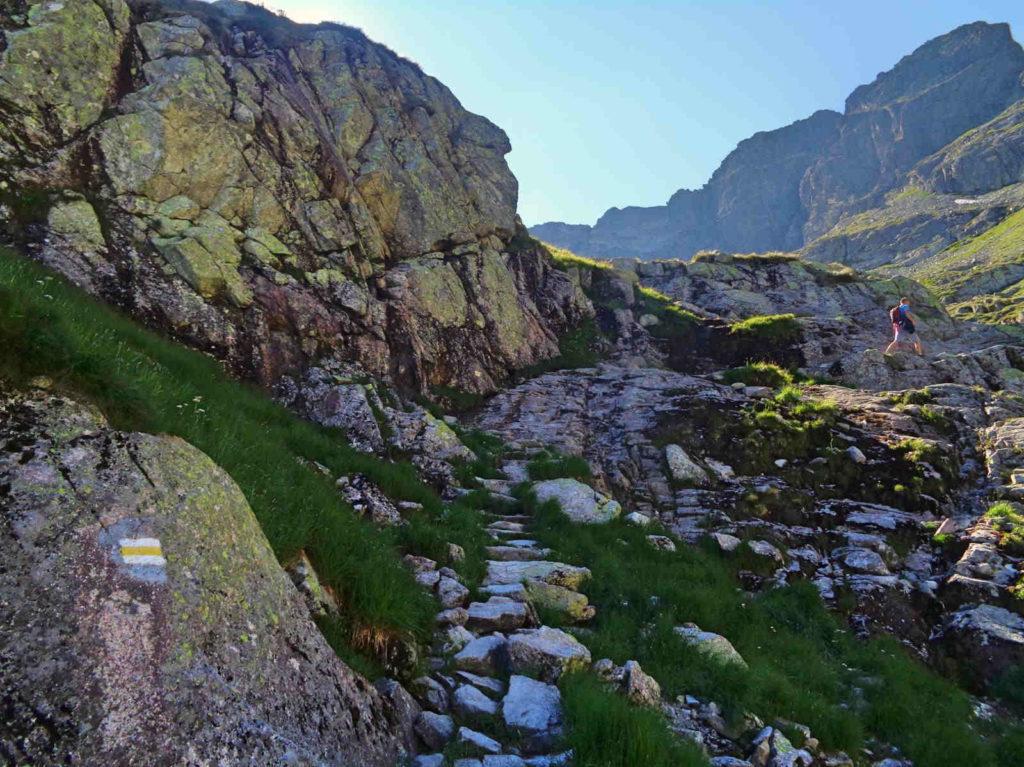 Kozia Dolinka, żółty szlak