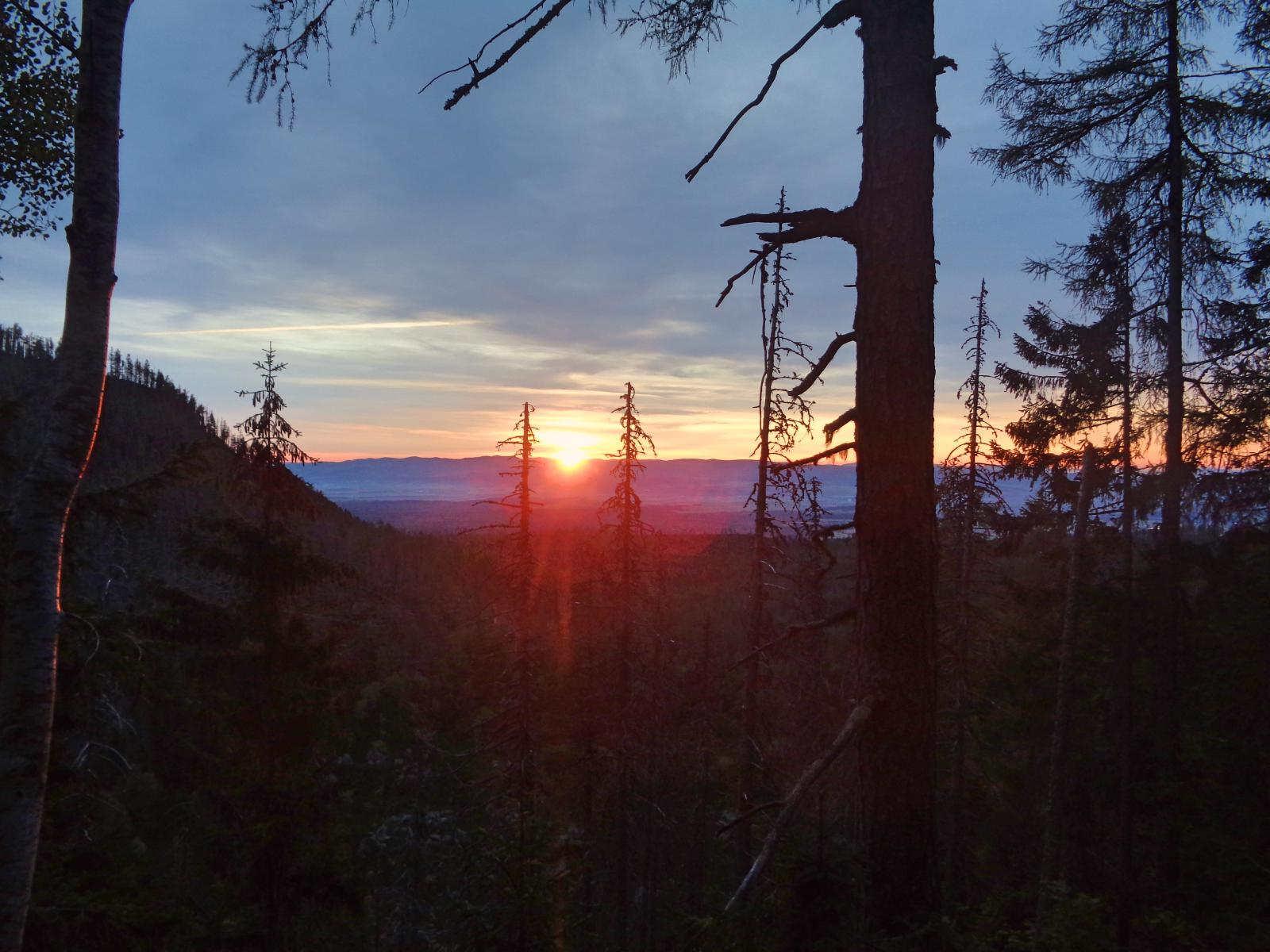Hrebienok, wschód słońca
