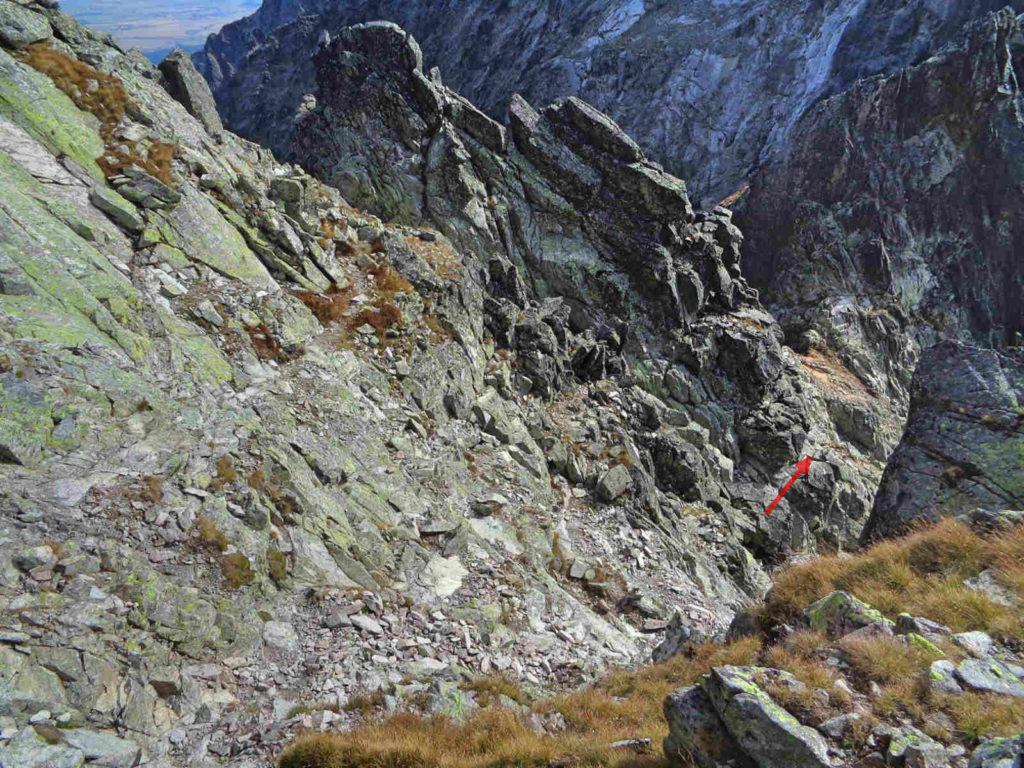 Zejście do Baraniej Przełęczy