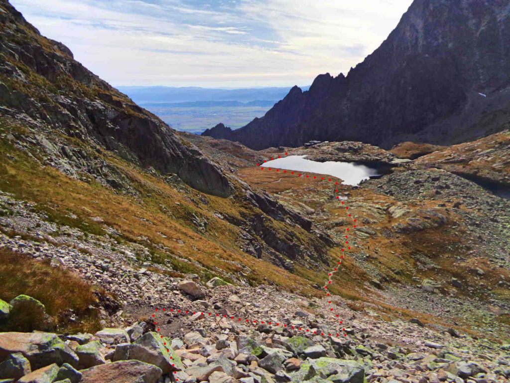 Zejście do Doliny Pięciu Stawów Spiskich