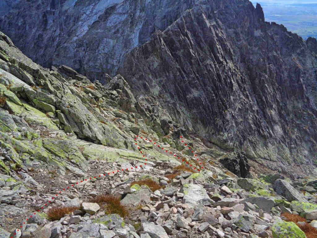 Zejście na Baranią Przełęcz