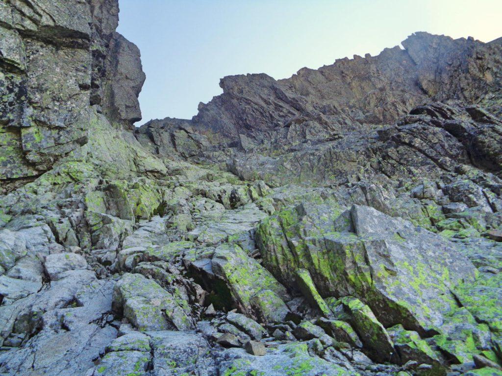 Durny Szczyt, wejście przez Małą Durną Przełęcz