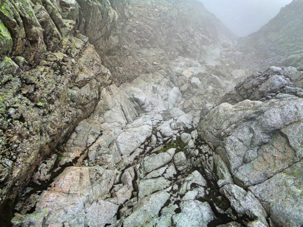 Zejście z Małej Durnej Przełęczy
