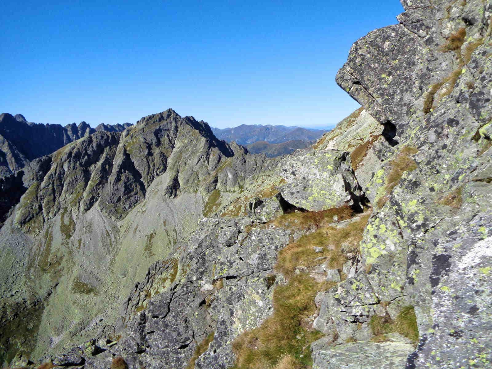 Mięguszowiecki Szczyt Wielki od Przełęczy pod Chłopkiem